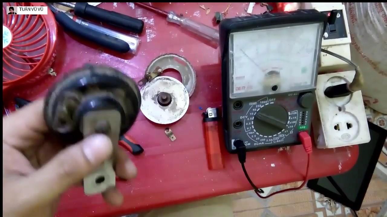 cách chỉnh còi xe máy